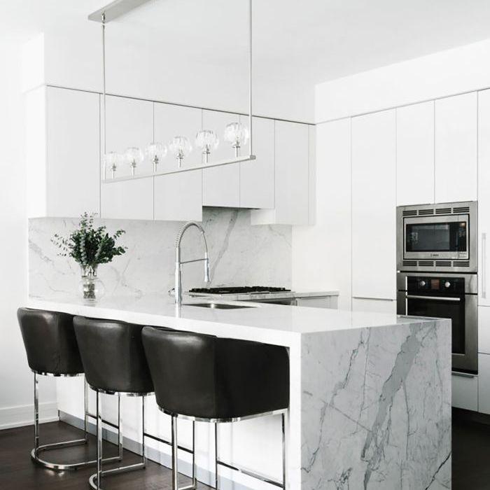 a bright, all-white kitchen