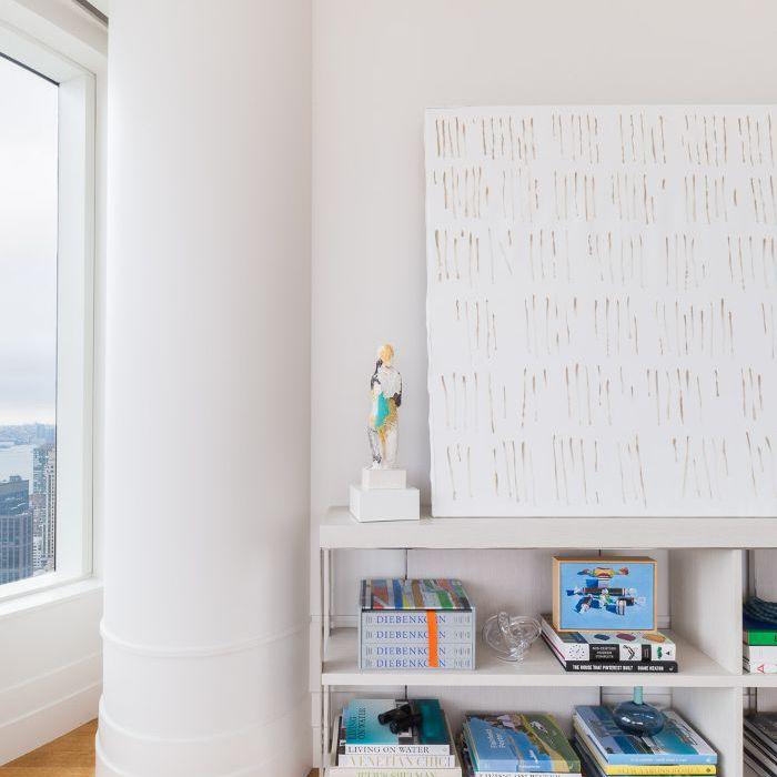 New York apartment—all-white interior
