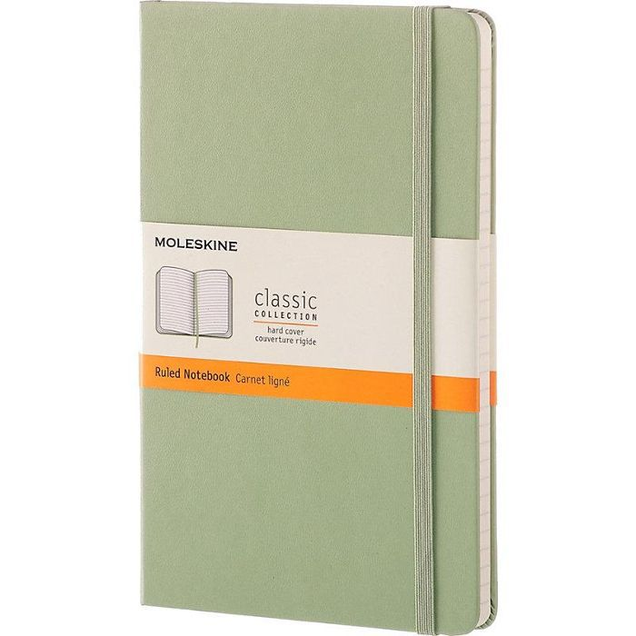 Hardcover ruled large notebook