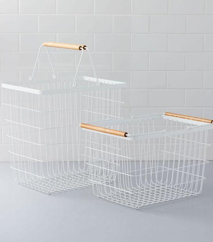 West Elm Wood Handle Baskets