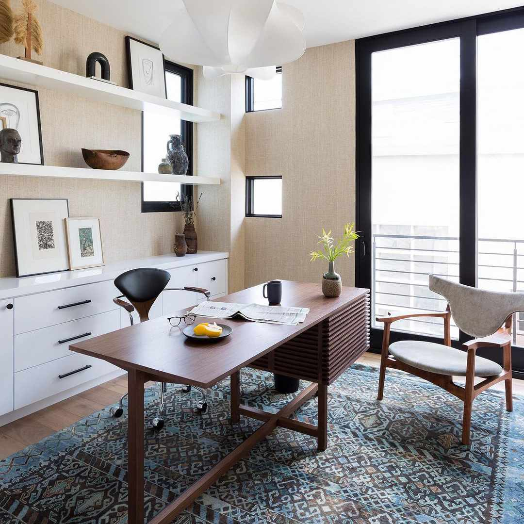Dining table with shelving