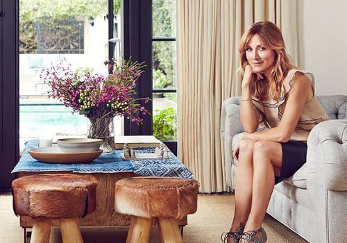 Sasha Alexander in her newly remodeled sitting room