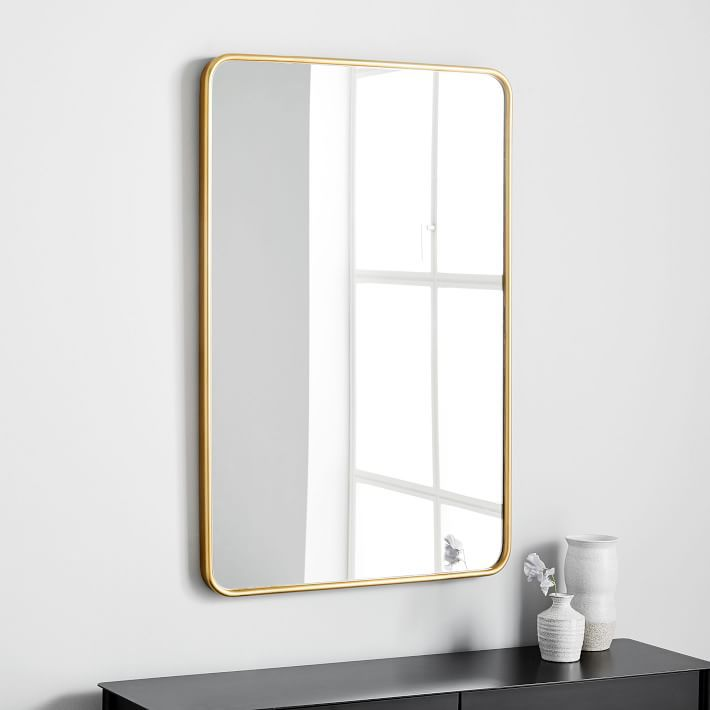 West Elm Modern Streamline Wall Mirror