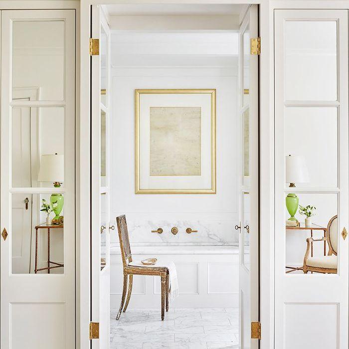 diseños de baño blanco