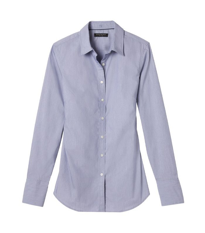 Womens Riley Fit Blue Shirt