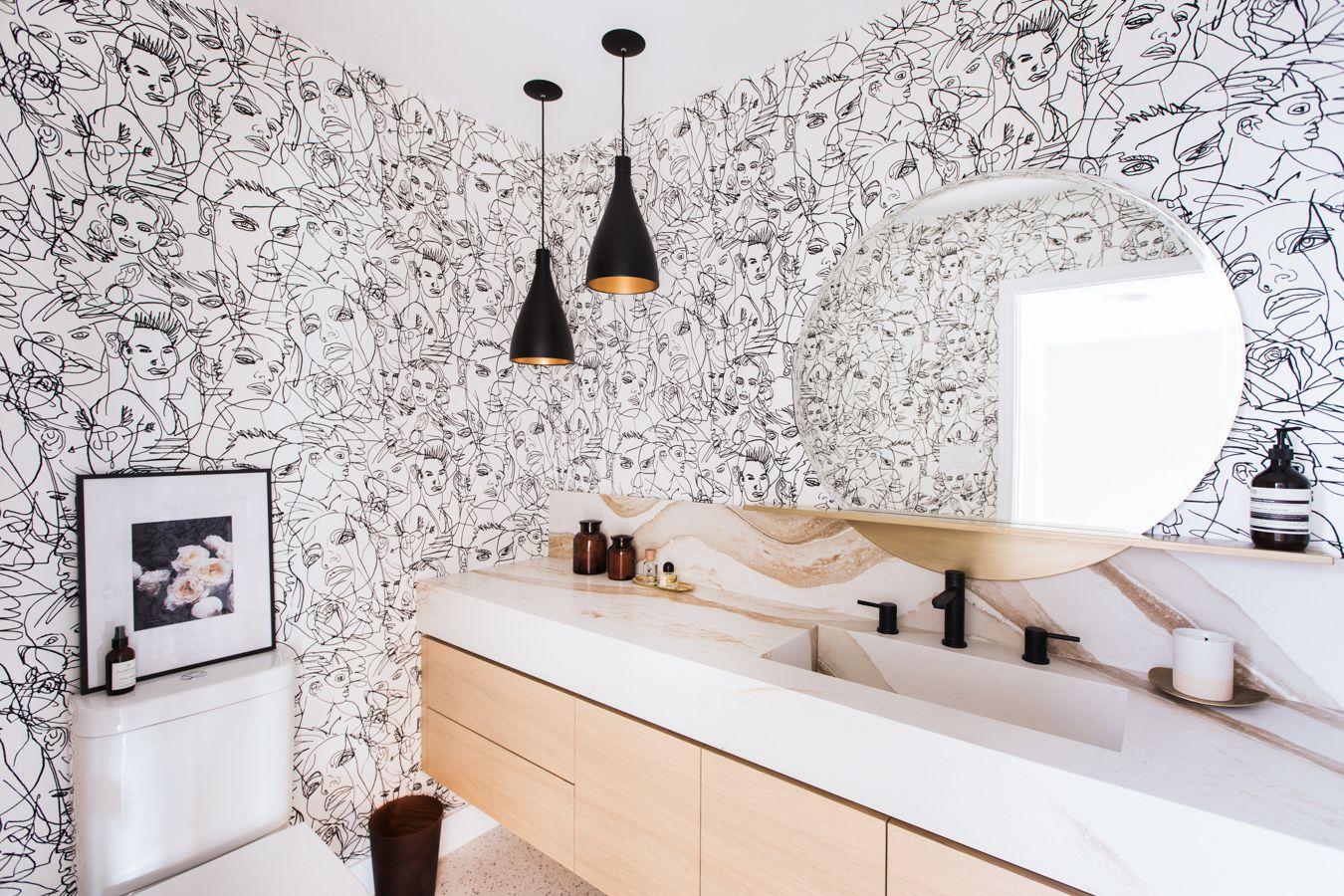 20 Stylish Ways To Decorate Your Bathroom Walls