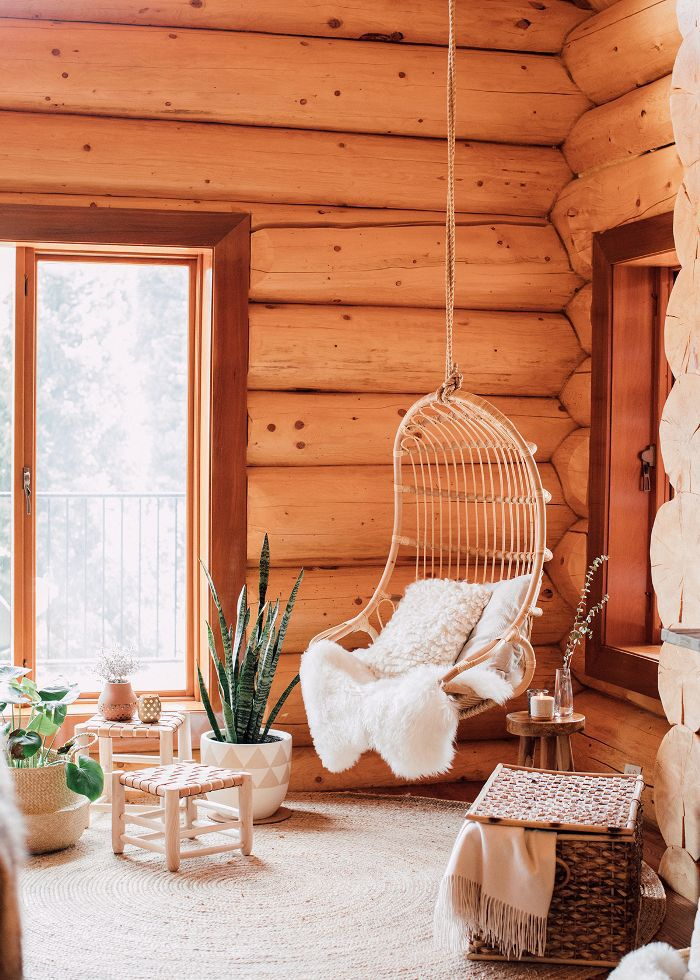 Living room hanging chair