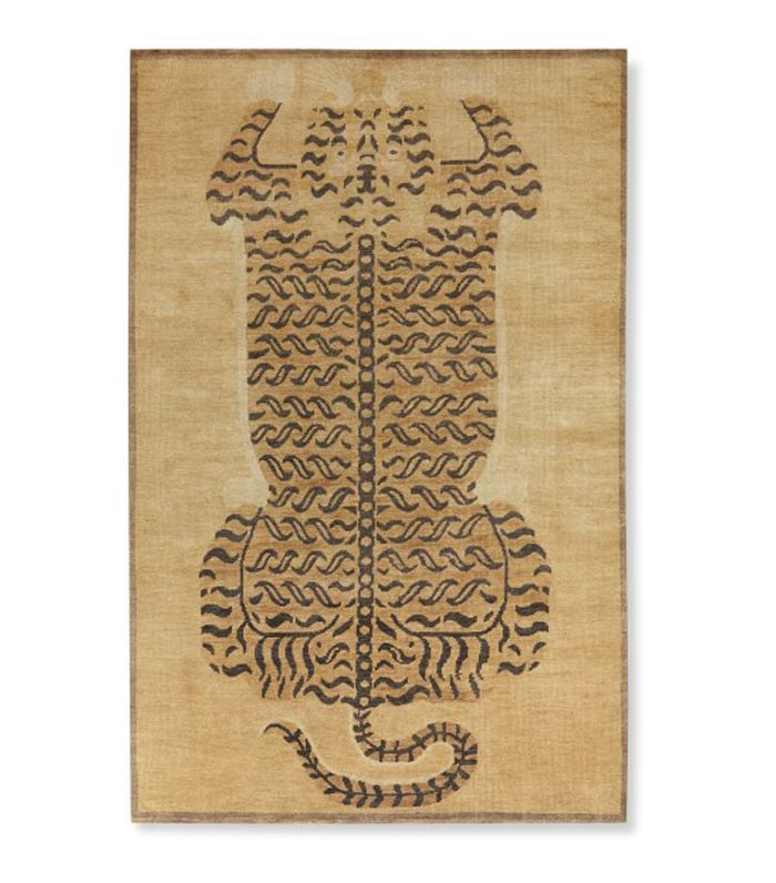 Williams Sonoma Hand Knotted Tibetan Tiger Rug
