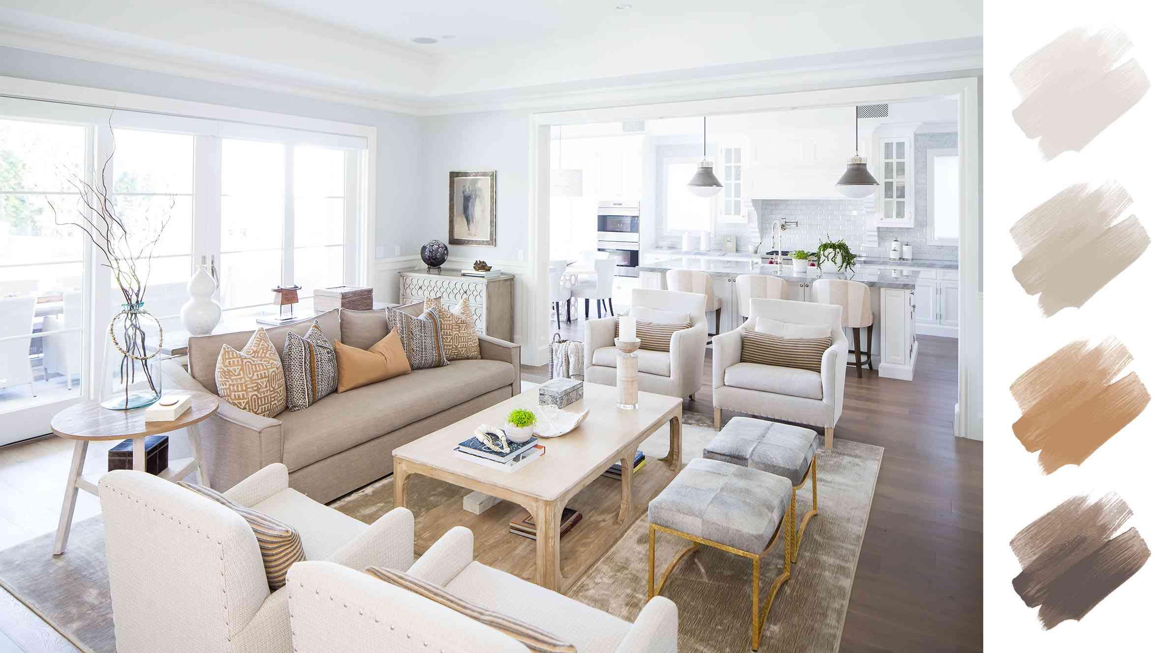 6 Gorgeous Living Room Color Schemes, Beige Color Schemes Living Rooms