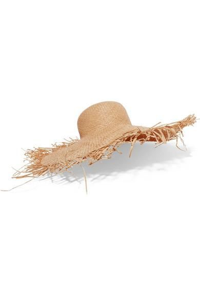 Clyde Frayed Straw Hat