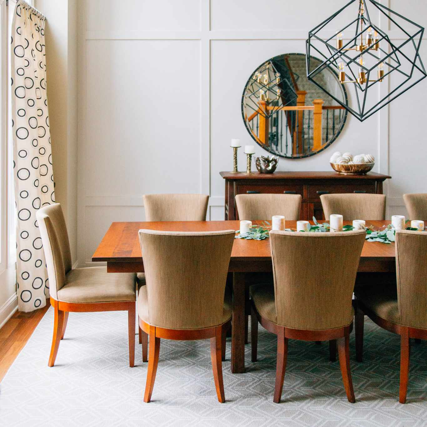 Airy dining room