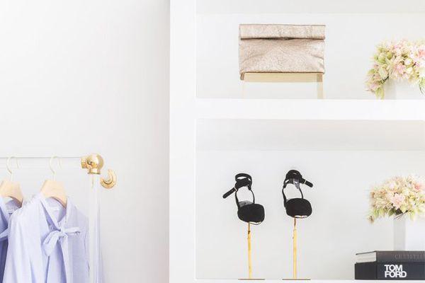Organized, minimal closet