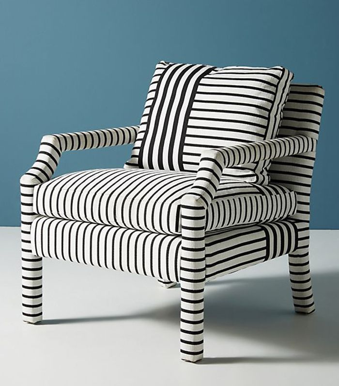 Anthropologie Banded Stripe Delaney Chair