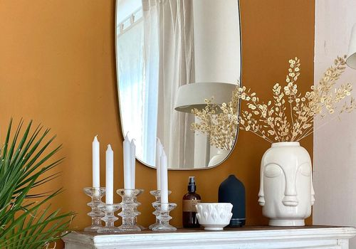 Afro Bohemian Living entryway table.