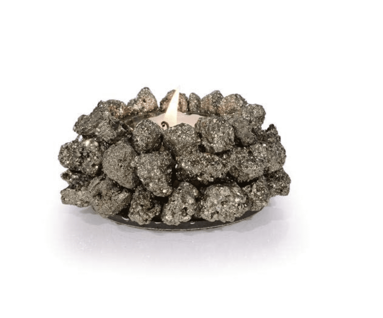 Pyrite Candle