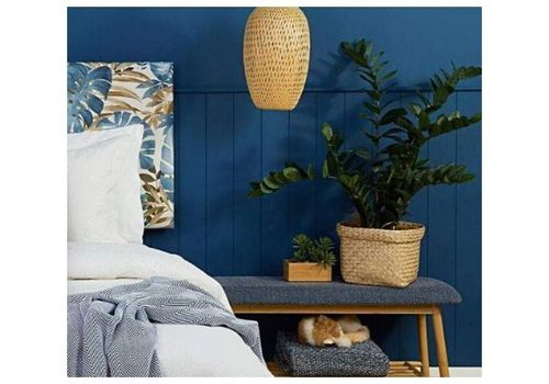 blue bedroom kmart hack for plants