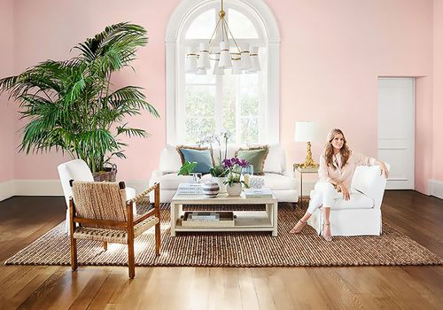 Aerin Lauder in a Williams-Sonoma Home living room