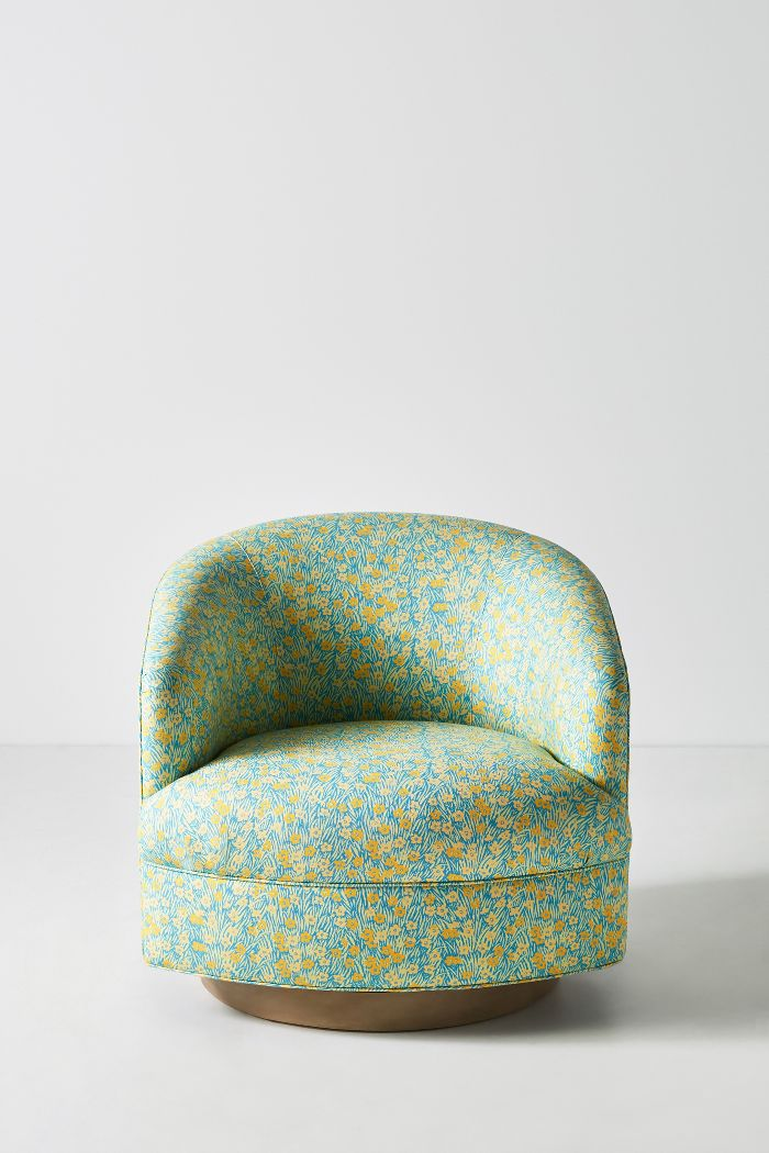 Anthropologie Paule Marrot Amoret Swivel Chair