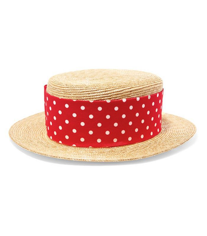 Grosgrain-trimmed Straw Boater