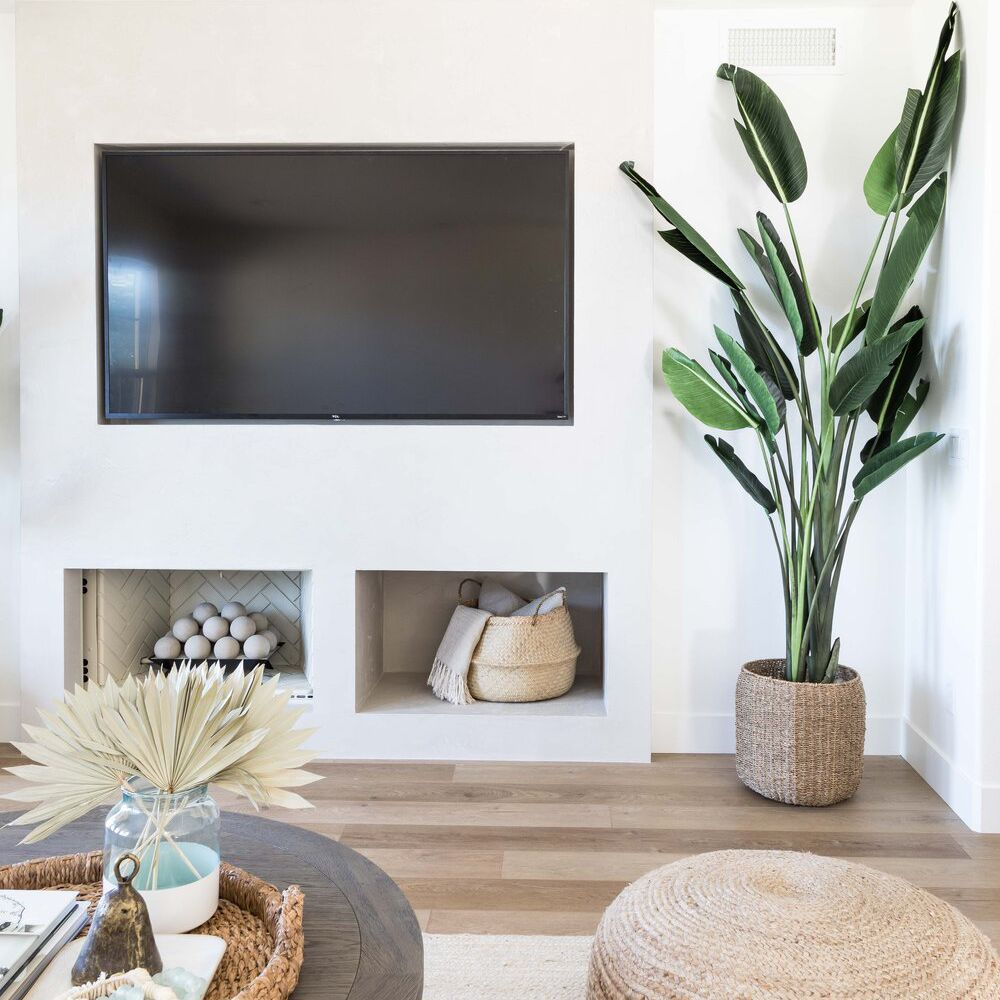 Fireplace with cut outs