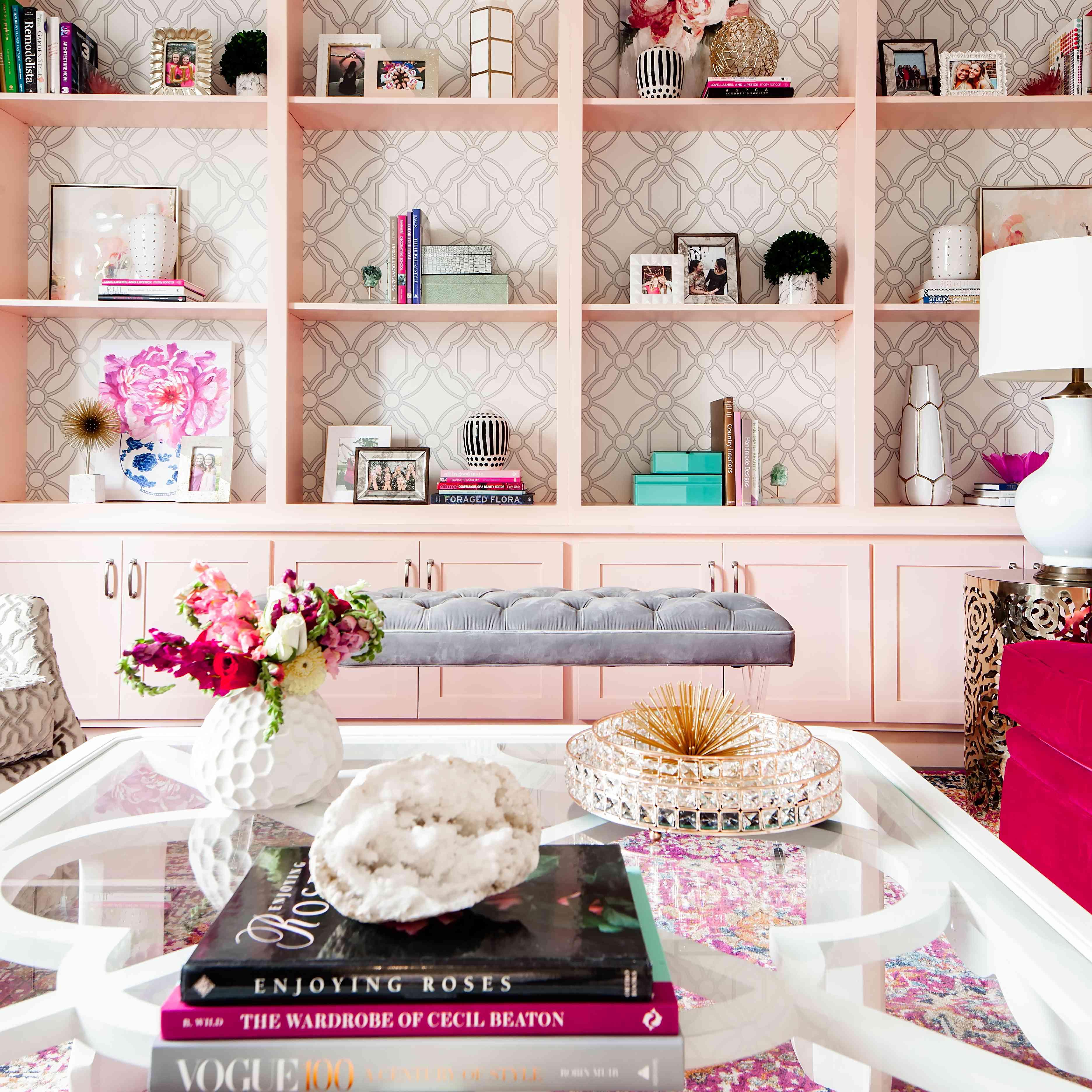 Pink built ins