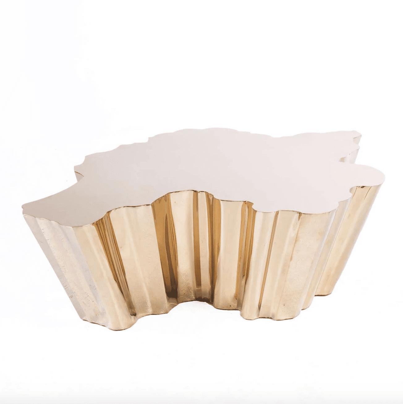 Modern Fideer Coffee Table - Rose Gold