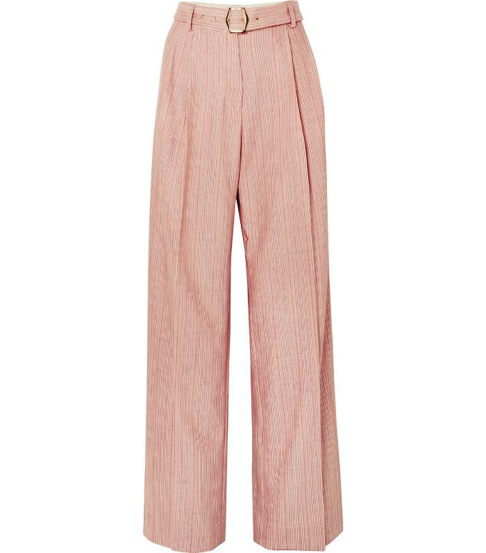 Blanche Striped Wool-blend Pants