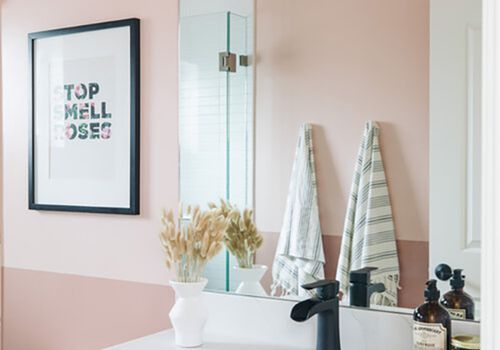 pink bathroom