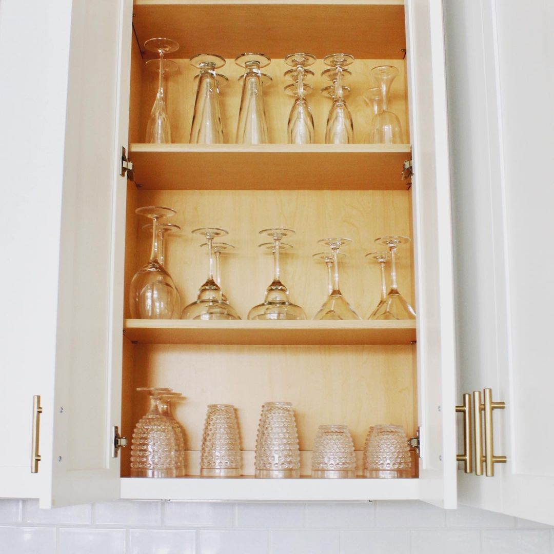 Cabinet with glassware
