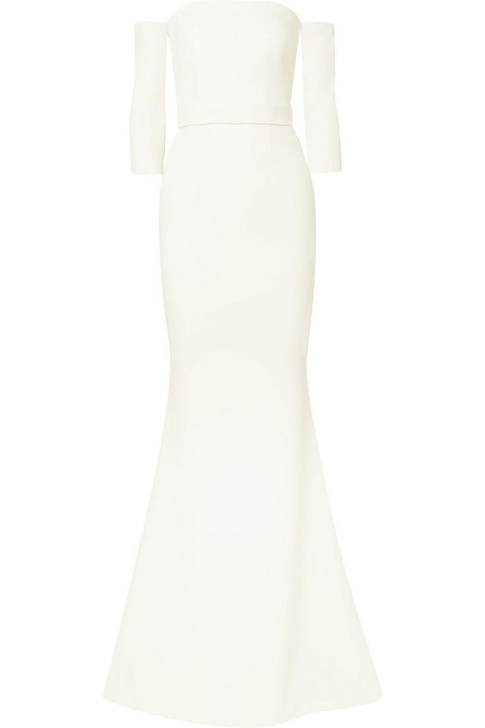Celiana Off-the-shoulder Stretch-crepe Gown