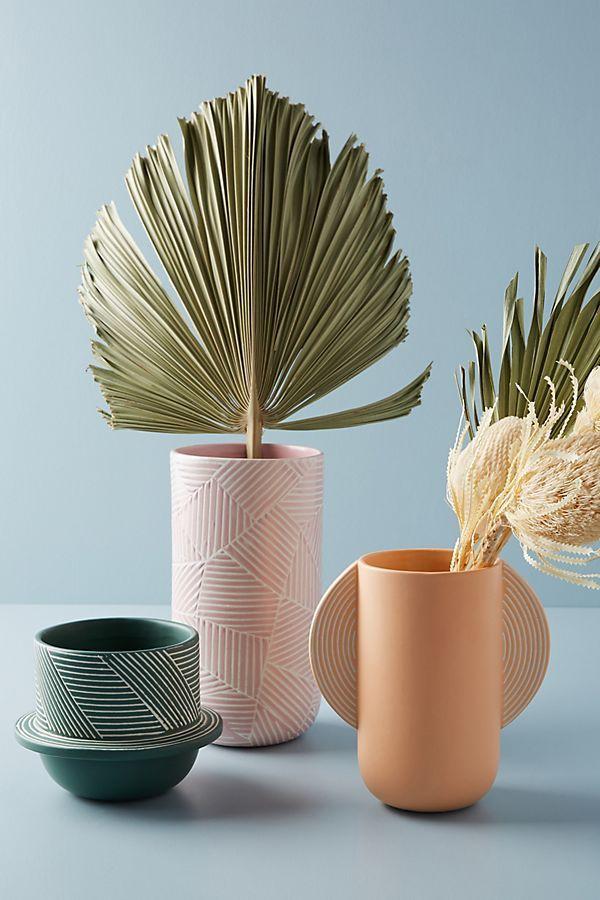 Handpainted Stoneware Vase