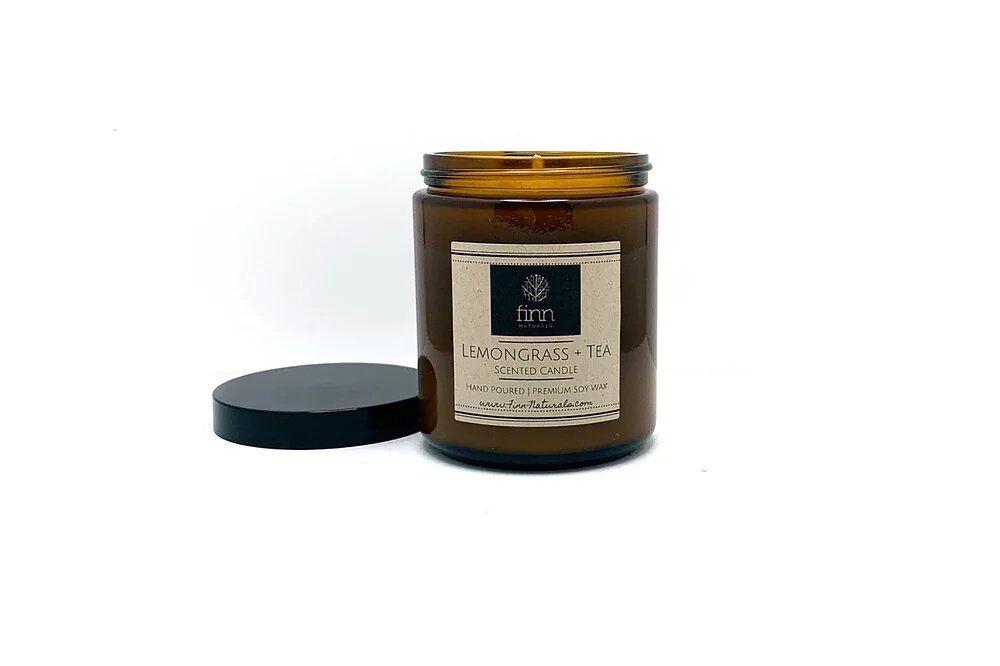 Finn Naturals Lemongrass + Tea Soy Scented Candle