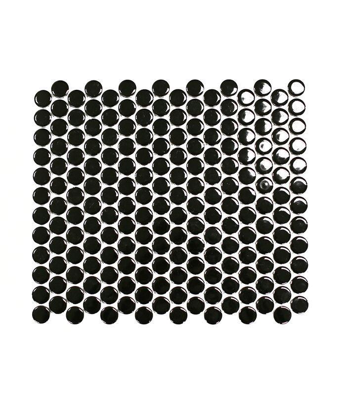 Clé Tile Black Penny Round Tile