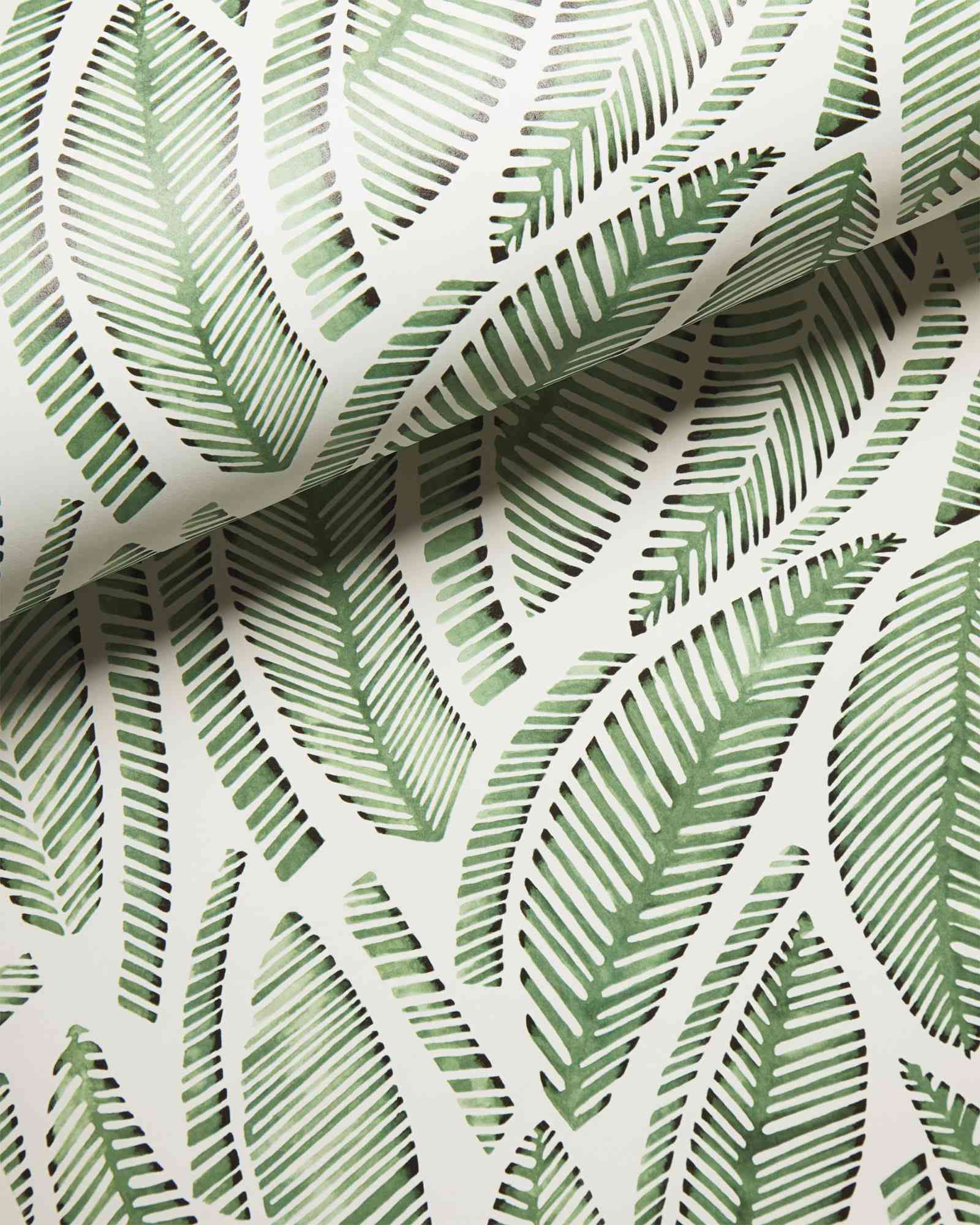 A roll of tropical print wallpaper