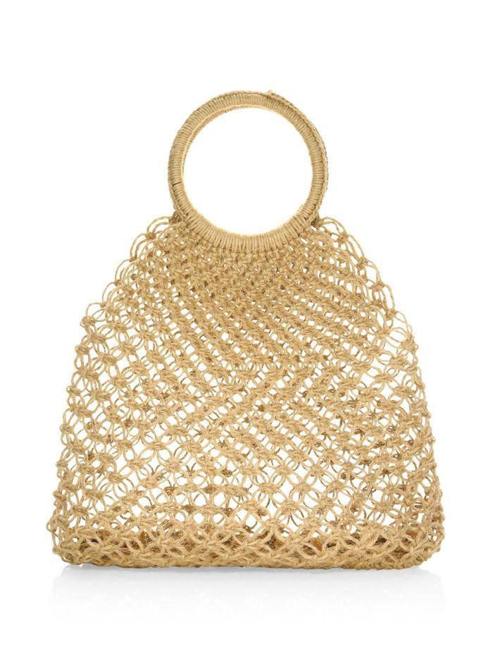 Medium Alfonso Straw Tote Bag