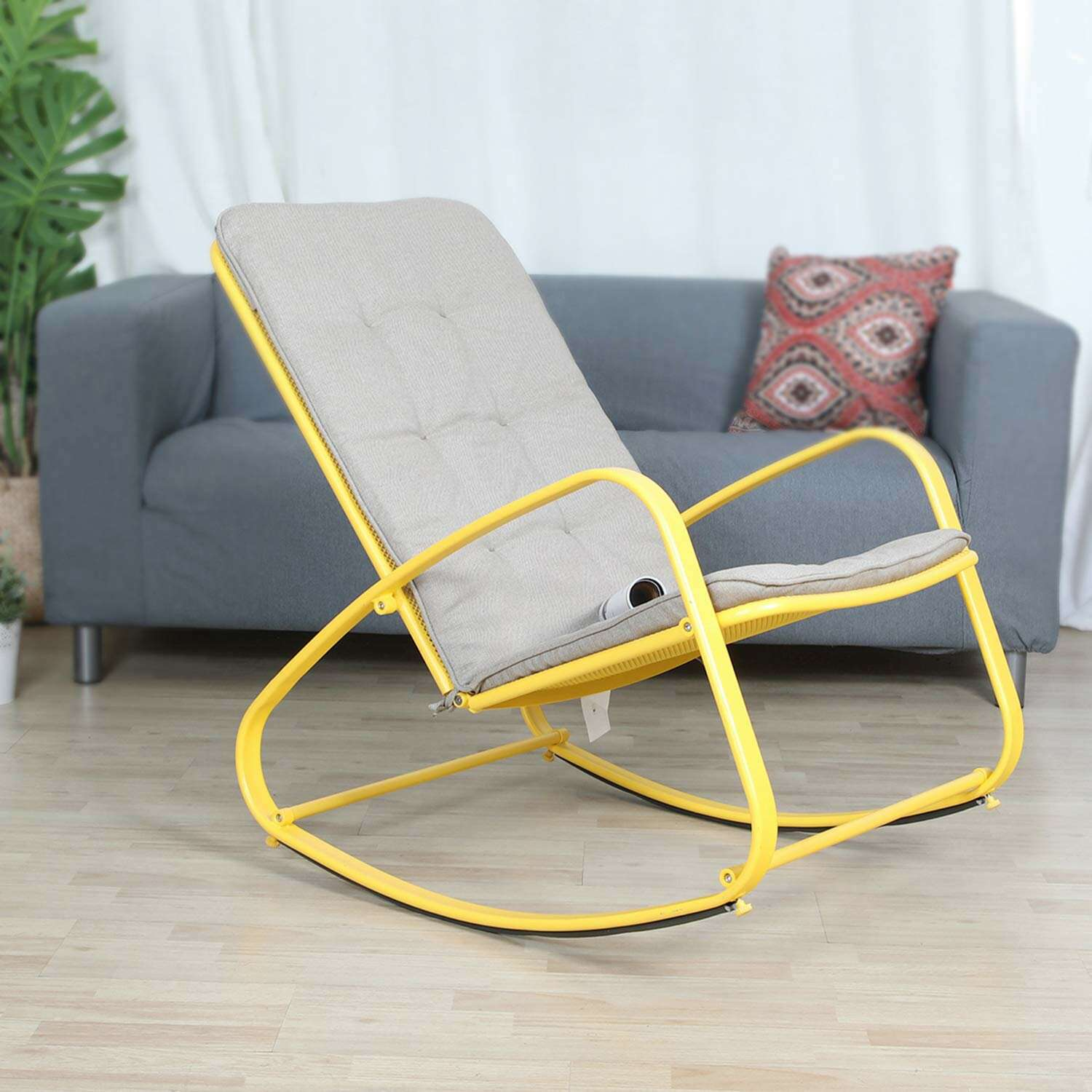 Wrought Studio Quintin Patio Rocking Chair with Cushions