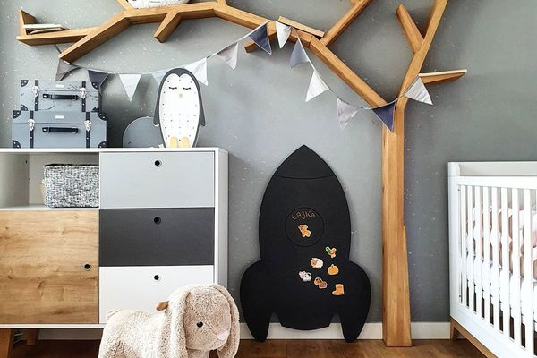 Playroom with a rocking bunny