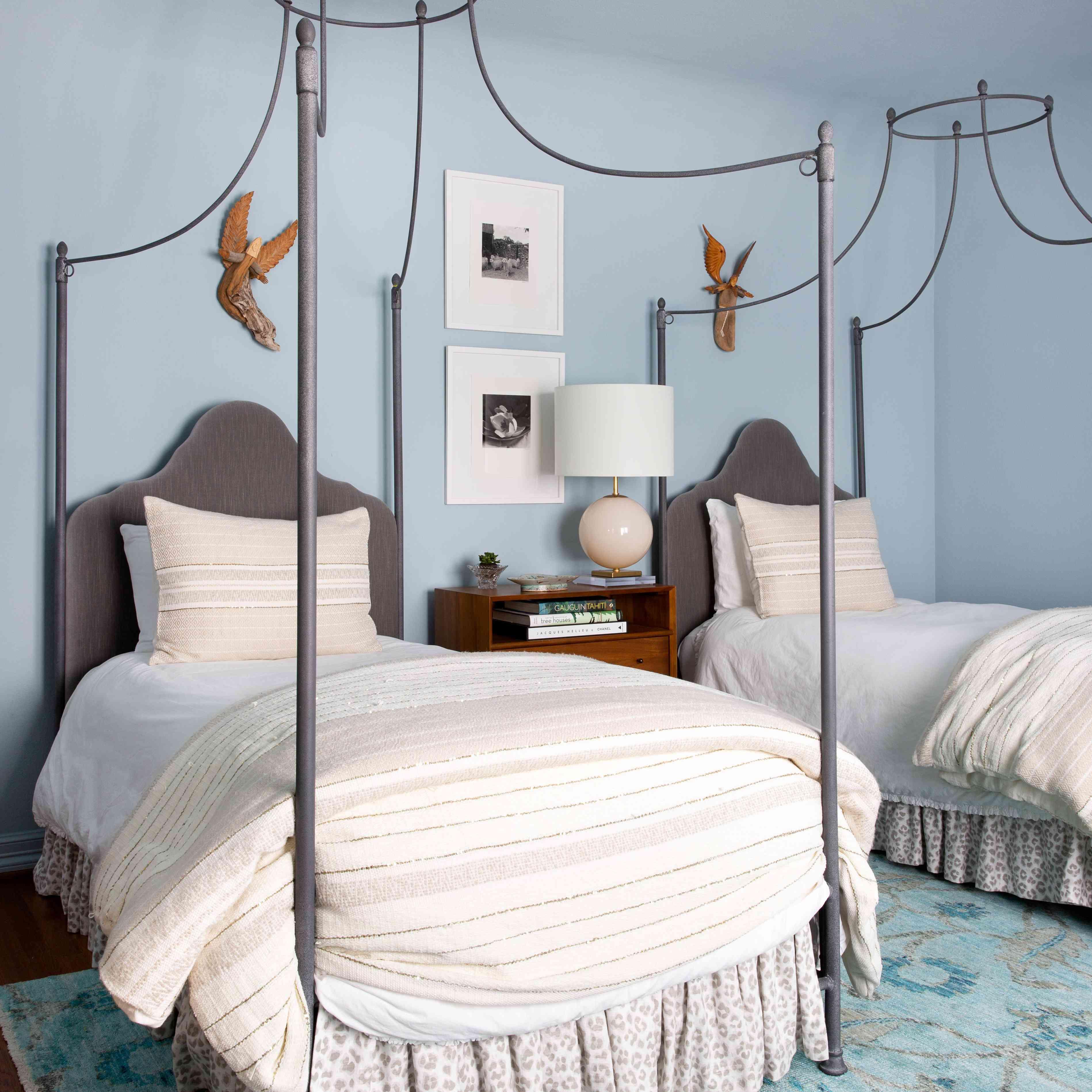 blue gray bedroom walls