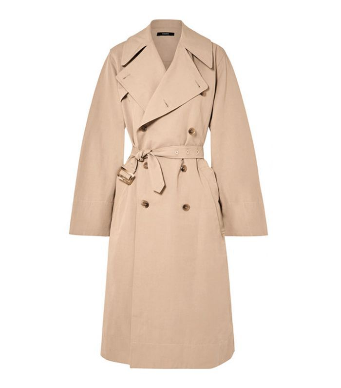 Belted Cotton And Linen-blend Trench Coat