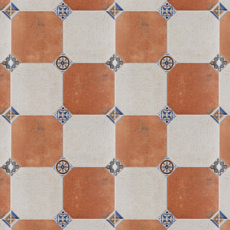 A series of printed kitchen tiles