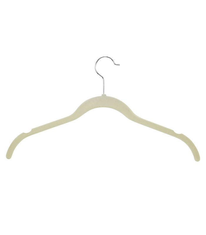 White Velvet Touch Shirt Hangers, Set of 30