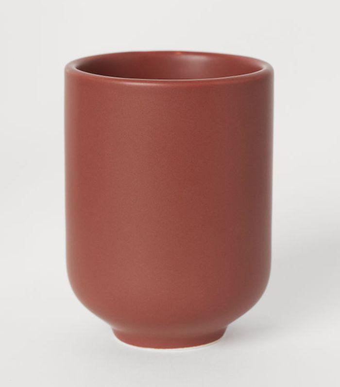 H&M Stoneware Toothbrush Mug