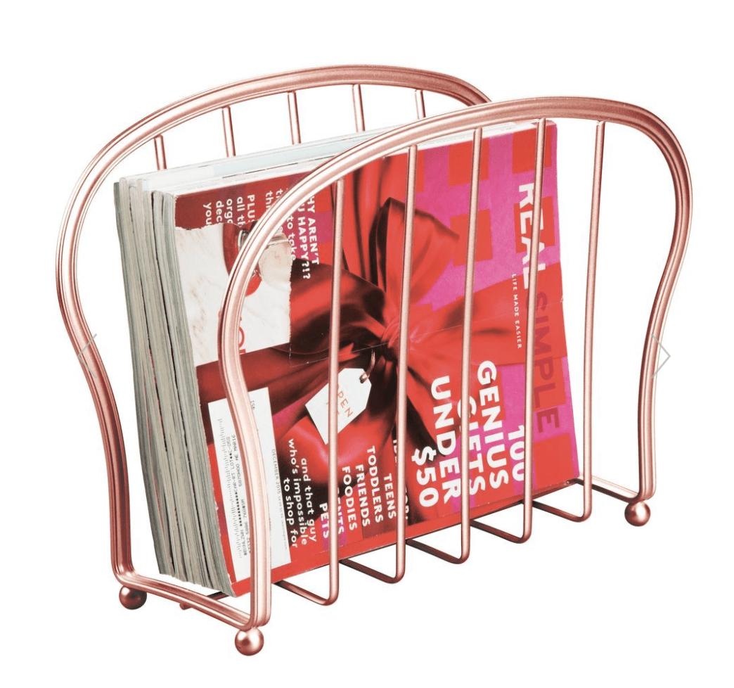 Metal Free Standing Bathroom Magazine Rack Newspaper Stand