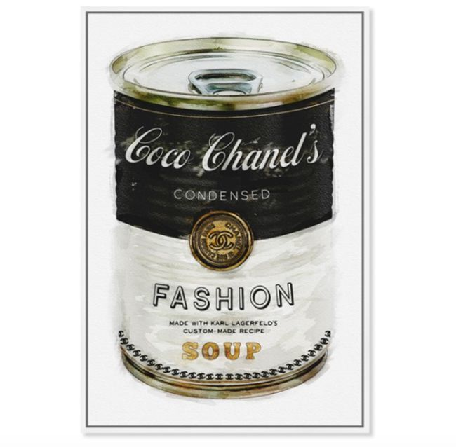 coco Chanel Campbell's soup fashion print