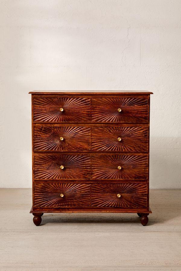Sunburst 4-Drawer Dresser