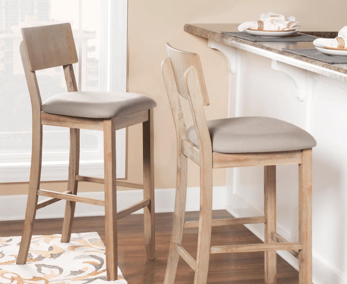 Whitewashed bar stools