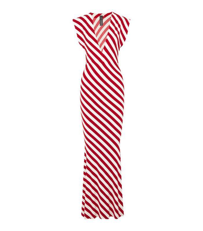Striped Stretch-jersey Maxi Dress