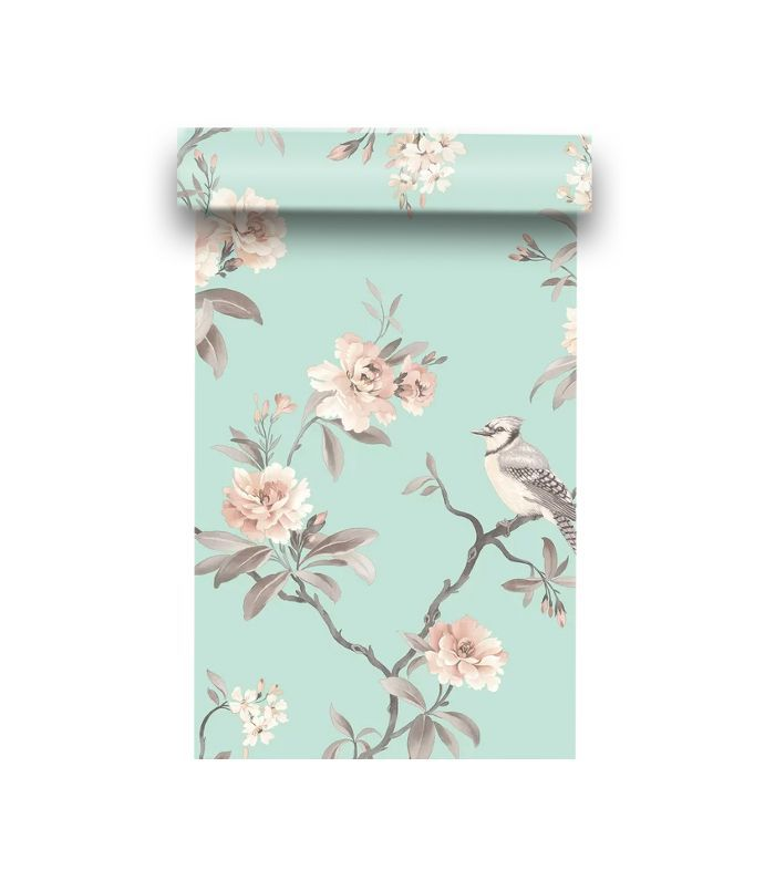 Brewster Home Fashions Chinoiserie Floral Wallpaper