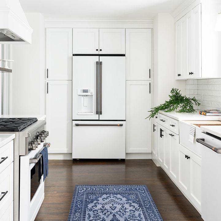 bright white simple kitchen