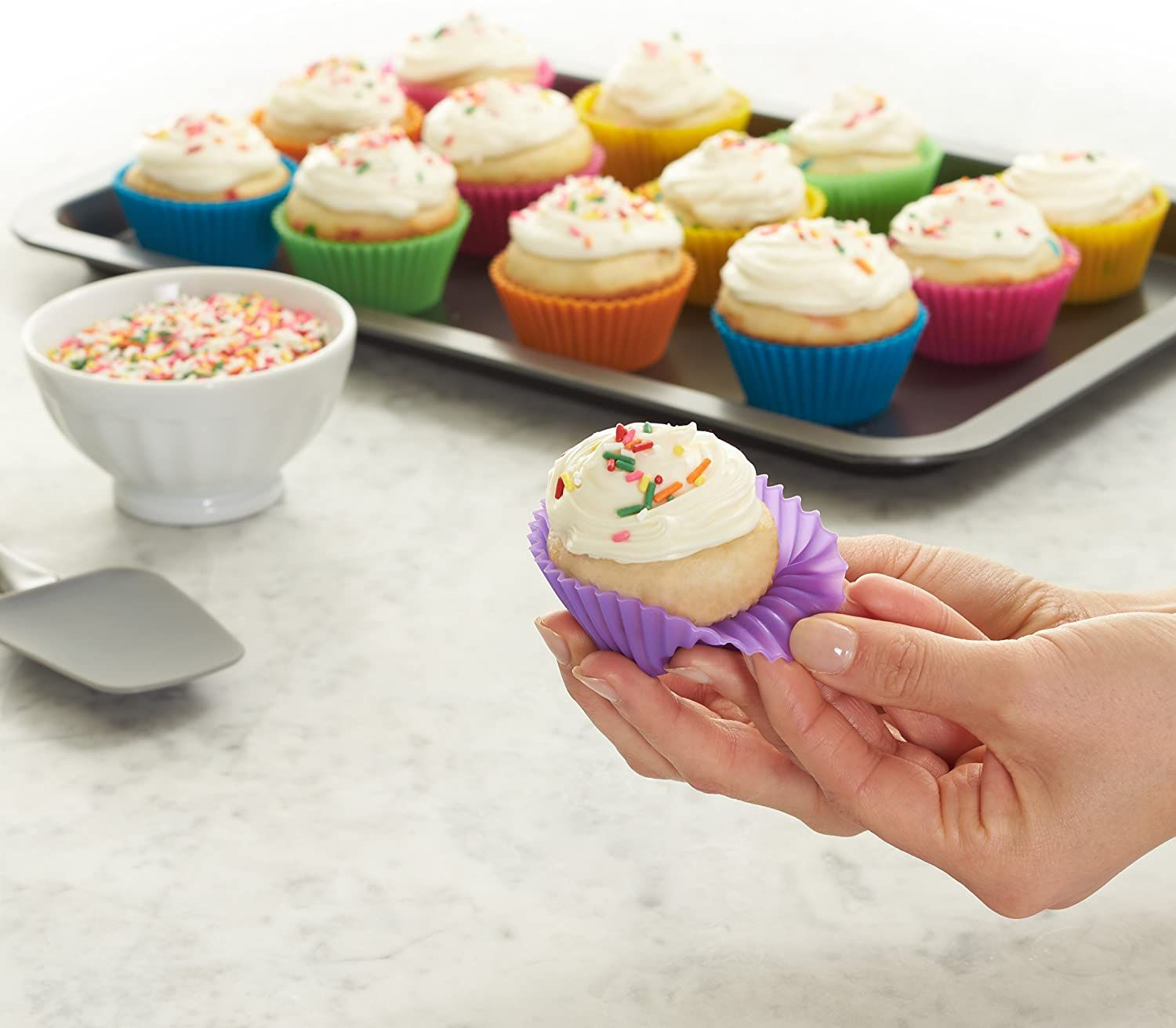 Colorful Silicone Baking Cups